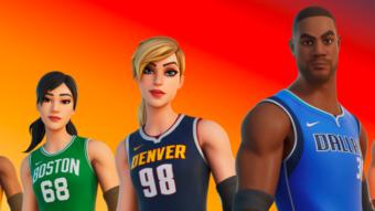 Fortnite recebe trajes e itens de times da NBA