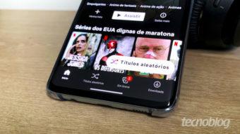 """Netflix coloca botão """"títulos aleatórios"""" no app para Android"""