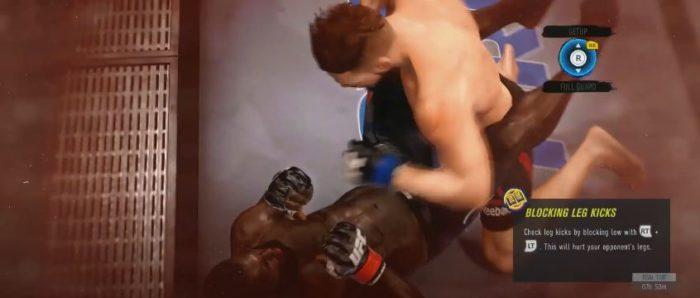 Fique atento ao atordoamento do oponente para levá-lo ao nocaute (Imagem: Reprodução / UFC 4)