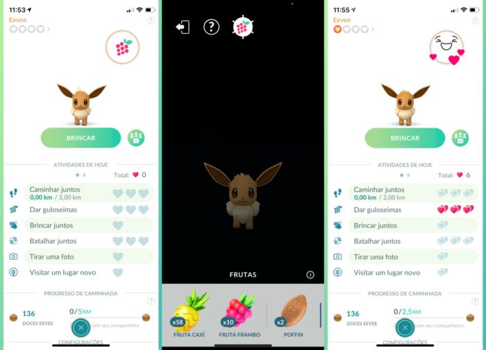 Eevee evolui para Sylveon ao ganhar corações como companheiro (Imagem: Reprodução/Pokémon GO)