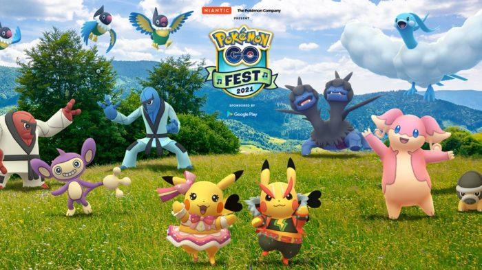 Pokémon GO Fest 2021 vai acontecer em 17 e 18 de julho (Imagem: Divulgação/Niantic)