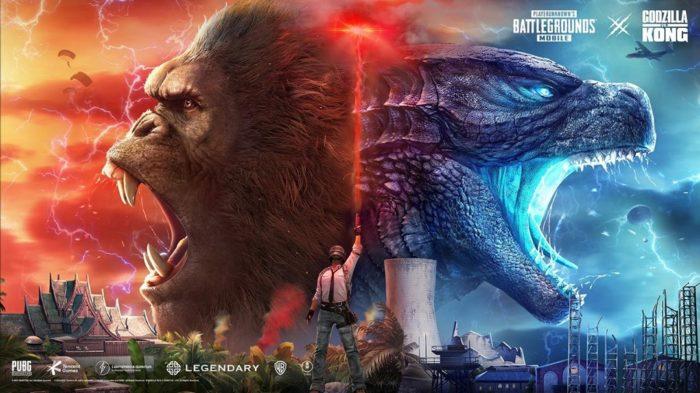 Godzilla e Kong estarão no evento Titan Strikes, de PUBG Mobile (Imagem: Divulgação/PUBG)