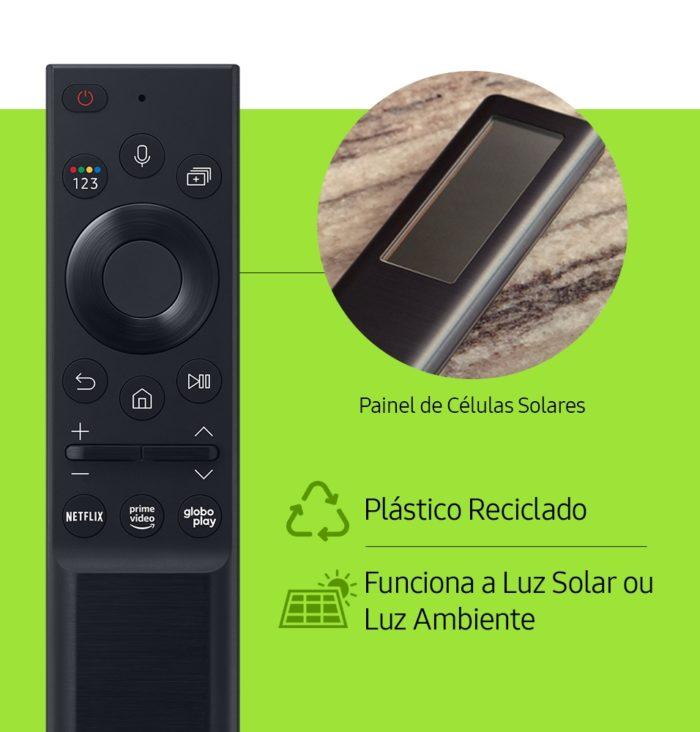 Novo controle remoto da Samsung é solar (Imagem: Divulgação/Samsung)