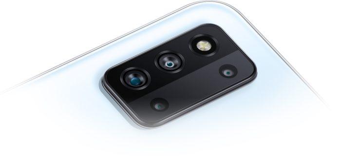 Câmera quádrupla do Samsung Galaxy F52 5G (Imagem: Divulgação/Samsung)
