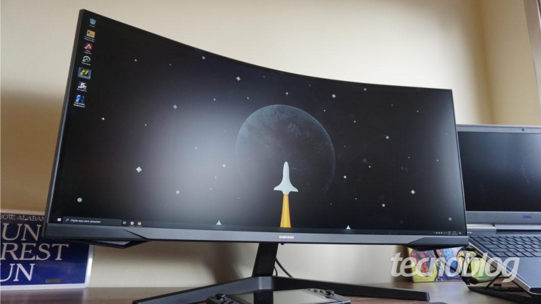 Samsung Odyssey G5 (Imagem: André Fogaça/Tecnoblog)