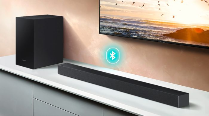 Soundbar Samsung HW-T450 (Imagem: Divulgação/Samsung)