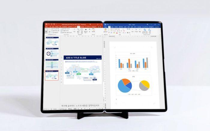 Samsung Display demonstra tablet com tela dobrável de 17 polegadas (Imagem: Divulgação/Samsung Display)
