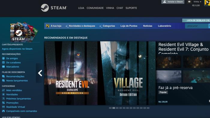 Steam pode ter problemas legais por suposto monopólio (Imagem: Reprodução)