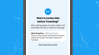 Twitter exibe aviso para quem tenta postar respostas ofensivas