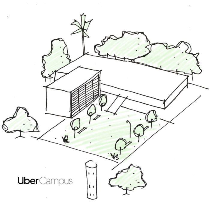 Projeto do novo Campus da Uber (Imagem: divulgação/Uber)