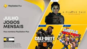 PS Plus de julho tem A Plague Tale no PS5 e Call of Duty no PS4