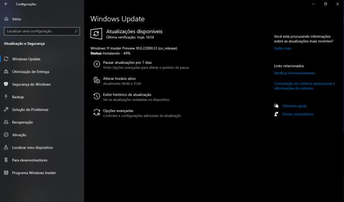 Windows 11 Preview (Imagem: Reprodução/Windows 11)