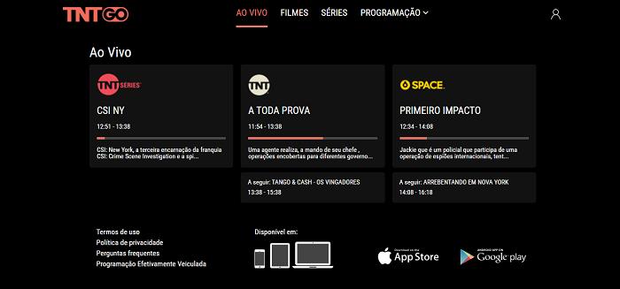 TNT Go oferece os canais TNT e Space (Imagem: Leandro Kovacs/Reprodução)