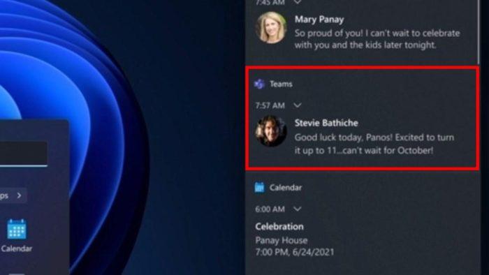 Mensagem do Teams indica que Windows 11 chega em outubro (Imagem: Reprodução / Microsoft)