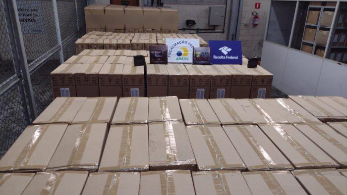 Mercadoria apreendida em Santos (Imagem: Reprodução/Receita Federal)