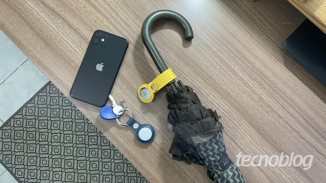 Apple AirTag (Imagem: Darlan Helder/Tecnoblog)