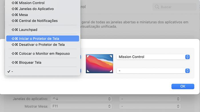 Como apagar a tela do Mac sem desligar ou repousar o sistema (Imagem: Lucas Lima/Reprodução)
