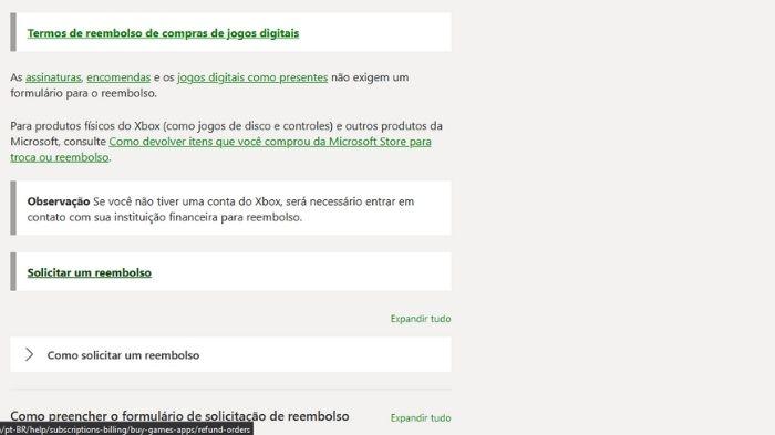 Como pedir reembolso de jogos do Xbox (Imagem: Leandro Kovacs/Reprodução)