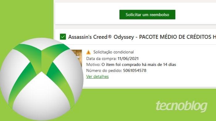 Como pedir reembolso de jogos do Xbox (Imagem: Leandro Kovacs/Tecnoblog)