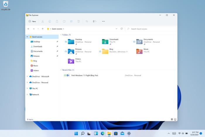 Explorador de Arquivos no Windows 11 (Imagem: Divulgação / Microsoft)