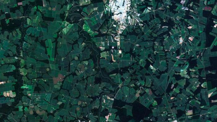 Foto de Sinop (MT) captada pelo satélite Amazonia 1, em 5 de maio de 2021
