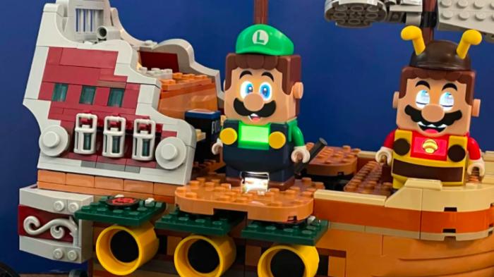 Mais expansão de Luigi em Lego Super Mario World (Imagem: Reprodução/CNET)