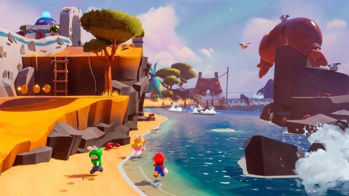Mario plus Rabbids Sparks of Hope (Imagem: Divulgação/Ubisoft)