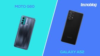 Comparativo: Moto G60 ou Galaxy A52; qual é o melhor?