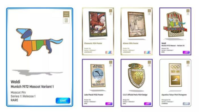 Broches em NFTs contemplam todos os jogos entre 1896 e 2014 (Imagem: Divulgação/ nWay)