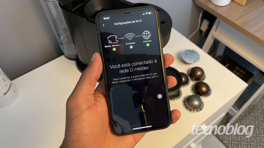 Application for Nespresso Vertuo Next (Image: Darlan Helder/Tecnoblog)
