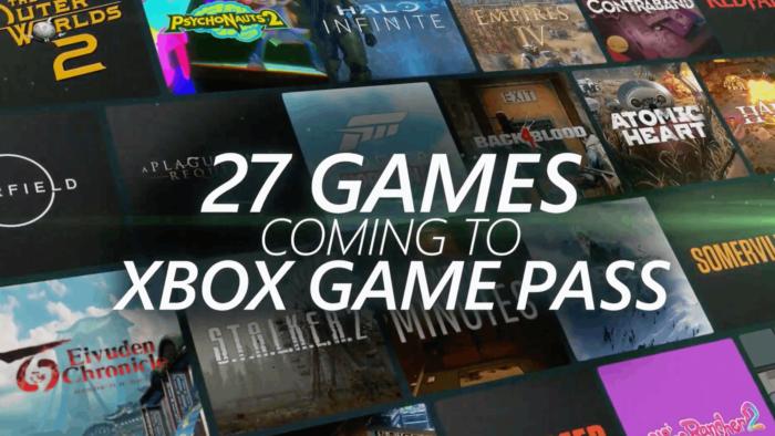 Microsoft anunciou 27 jogos para Xbox Game Pass na E3 2021 (Imagem: Reprodução)