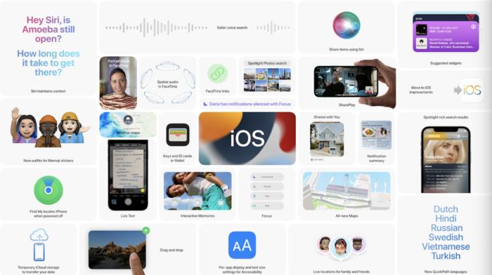 Novidades para o iPhone com o iOS 15 (Imagem: Divulgação/Apple)