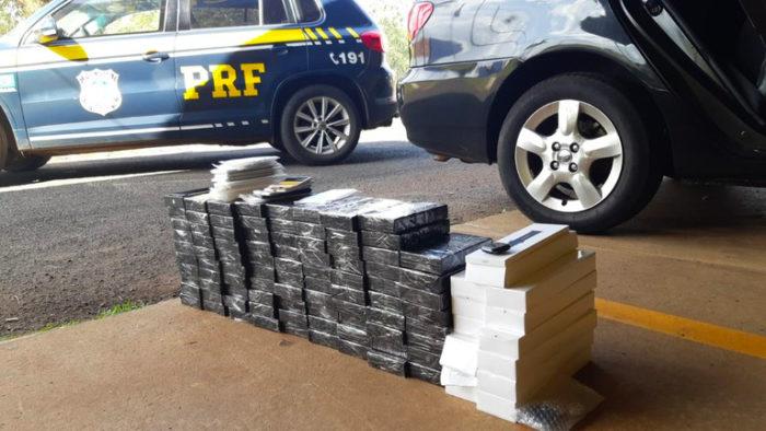 iPhones apreendidos pela Polícia Rodoviária Federal (Imagem:PRF/Divulgação)