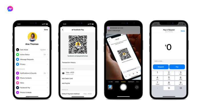 Nova forma de pagar usando o QR Code do Facebook Messenger (Imagem: Facebook/Divulgação)