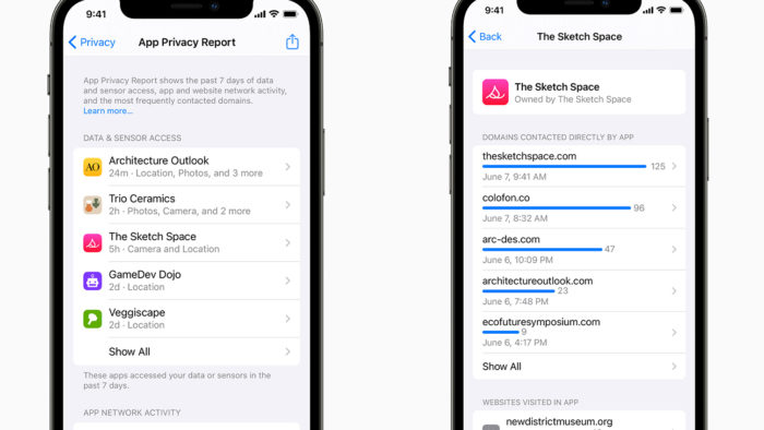 App Privacy Reports