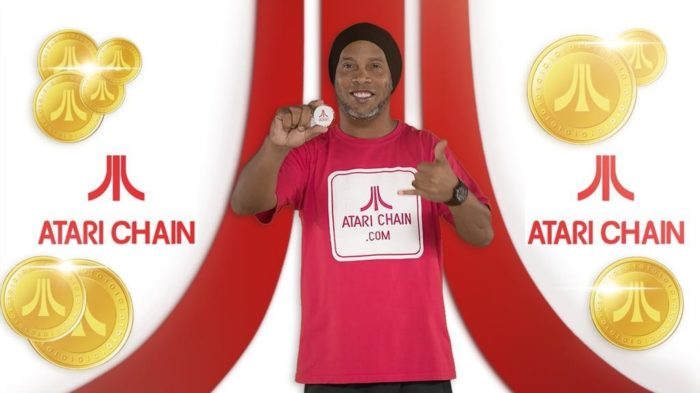 Ronaldinho gaúcho promove criptomoeda da Atari no Twitter (Imagem: Reprodução)