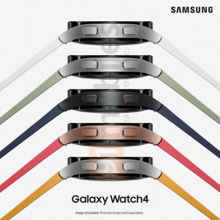 Samsung Galaxy Watch 4 pode ter várias opções de cores (Imagem: Reprodução/91mobiles)