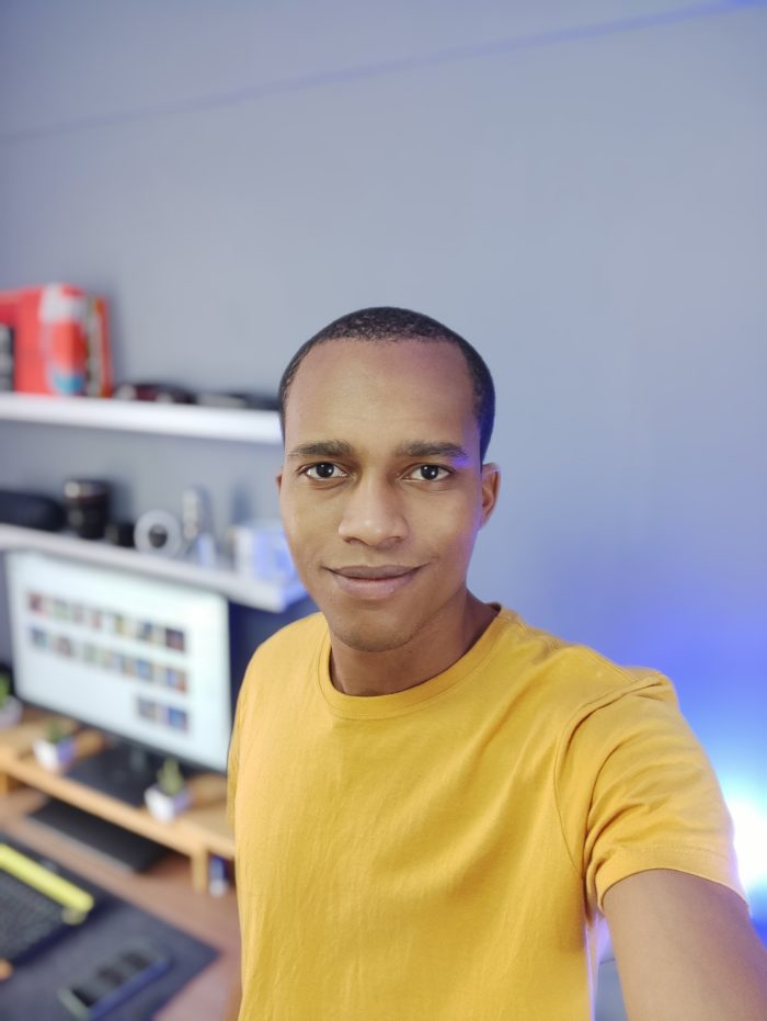 Photo taken with the front camera of the Xiaomi Redmi Note 10 Pro (Image: Darlan Helder/Tecnoblog)