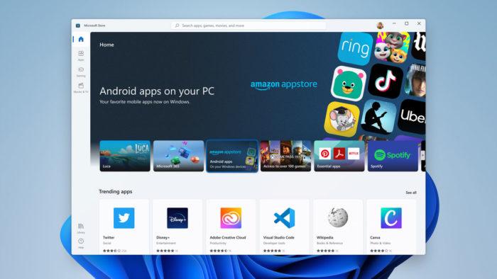 Microsoft Store do Windows 11 usa Amazom Appstore para fornecer apps de Android (Imagem: Reprodução)