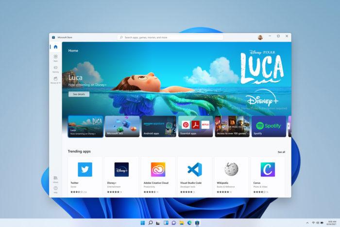 Nova interface da Microsoft Store no Windows 11 (imagem: divulgação/Microsoft)