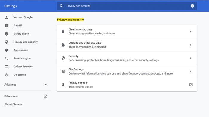 Nova opção dpara habilitar a Privacy Sanbox (Imagem: Reprodução)