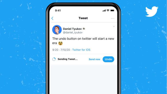 """Função de """"desfazer tweet"""" do Twitter Blue (Imagem:Twitter/Divulgação)"""