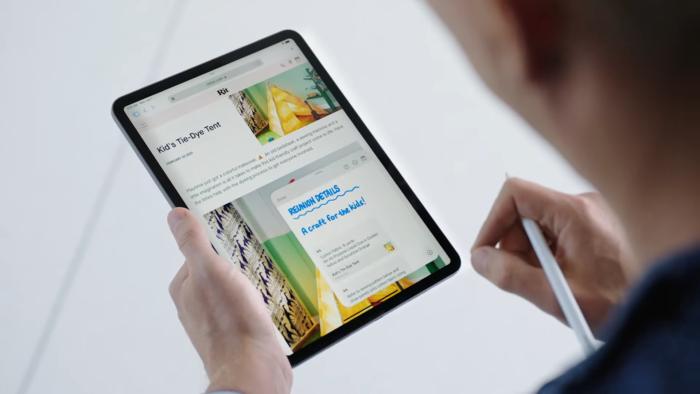 Notas Rápidas do iPadOS 15 (Imagem: Reprodução/YouTube Apple)