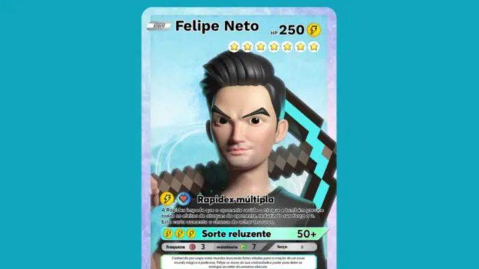 """NFT """"Rapidex Múltipla"""", de Felipe Neto, exclusivo da nova plataforma 9Block (Imagem: Divulgação/Play9)"""