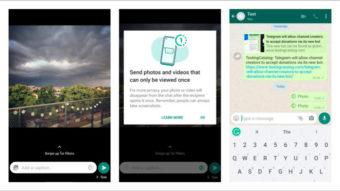 WhatsApp Beta libera fotos e vídeos que podem ser vistos apenas uma vez