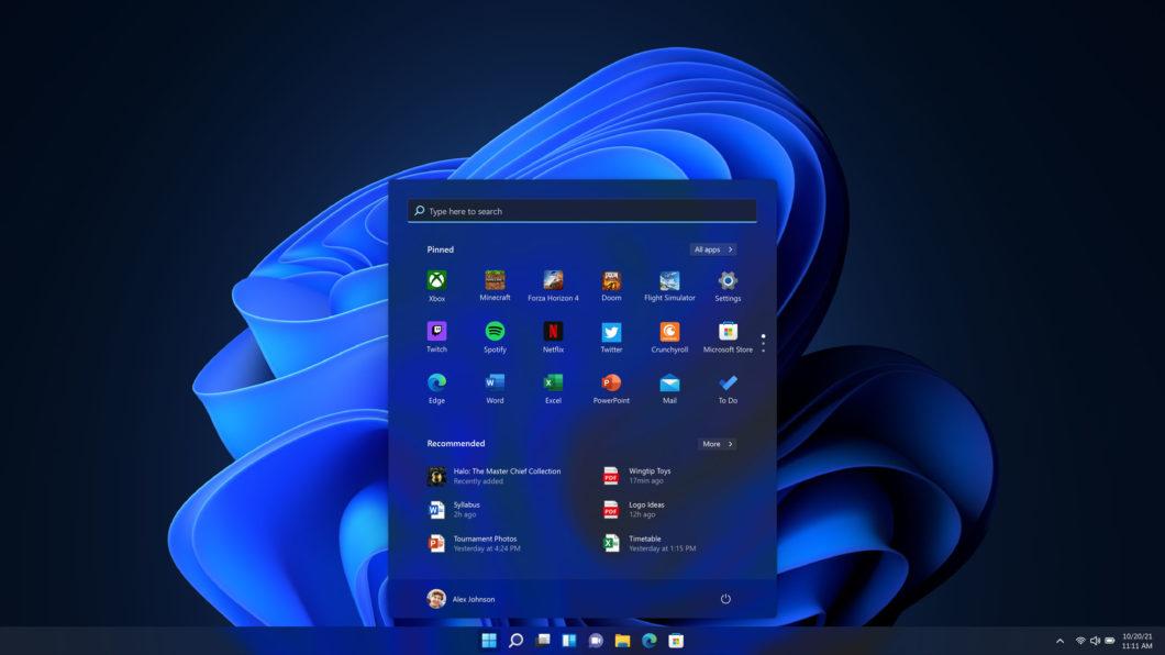 Modo escuro no Windows 11 (Imagem: Divulgação / Microsoft)