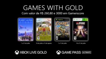 Xbox Live Gold de julho tem Rock of Ages 3, Conker e mais jogos grátis
