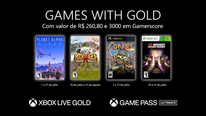 Xbox Live Gold julho 2021