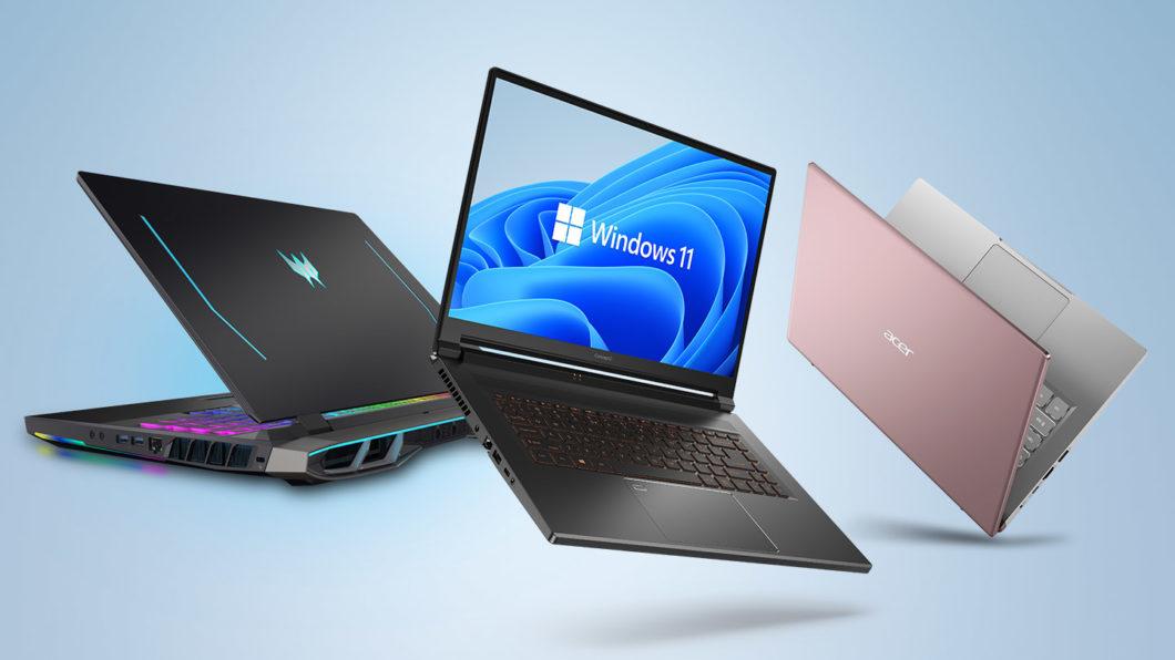 PCs da Acer com Windows 11 (Imagem: Divulgação)