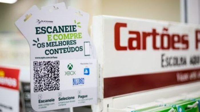 Americanas vende gift cards via QR Code (Imagem: Divulgação/Blackhawk Network)